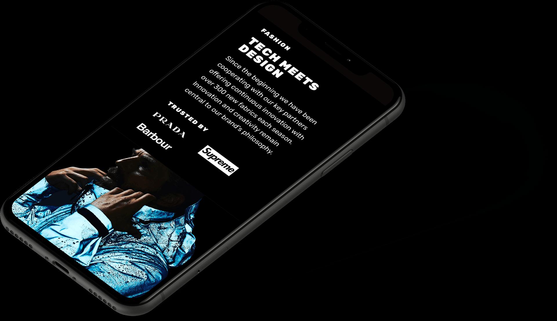 sito web responsive visto da smartphone